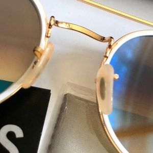 Ray-Ban Accessories - Ray Ban 3647 Blue Gradient Gold round frame UNISEX